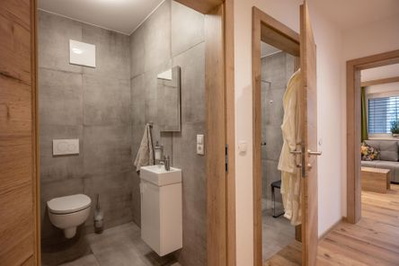 bathroom you will find everything you need as well as a shower with infrared cabin