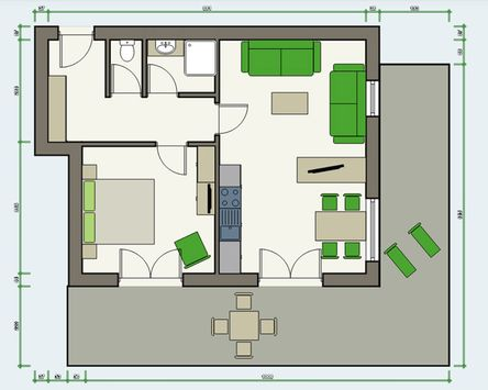 APART deluxe Garten-Suite Top 1 Plan